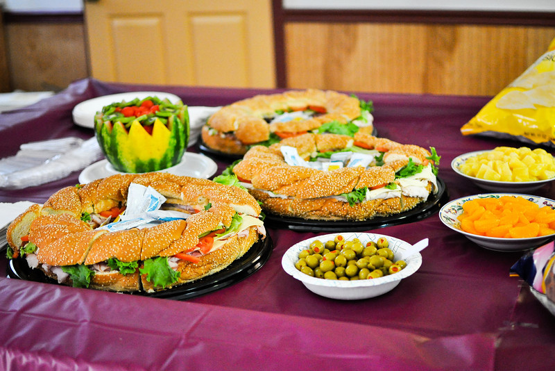 Sandwiches on Food Table
